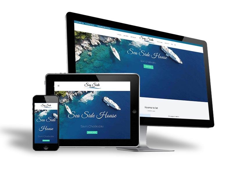 Ενοικιαζόμενα δωμάτια SeaSide House Σίβηρη Χαλκιδική Οικονομικές τιμές Luxury rooms
